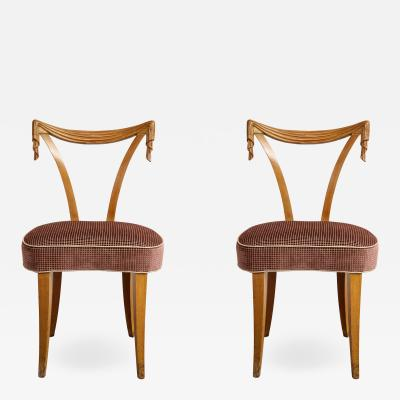 Pair of Grosfeld House Carved Chairs