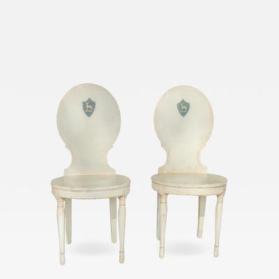 Pair of Gustavian Hall Chairs