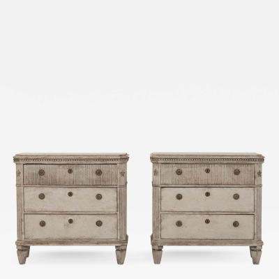 Pair of Gustavian Pair of Chests of Drawers