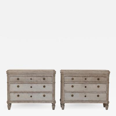 Pair of Gustavian Style Chest of Drawers