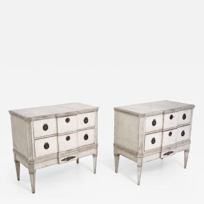 Pair of Gustavian break front chests 19th Century