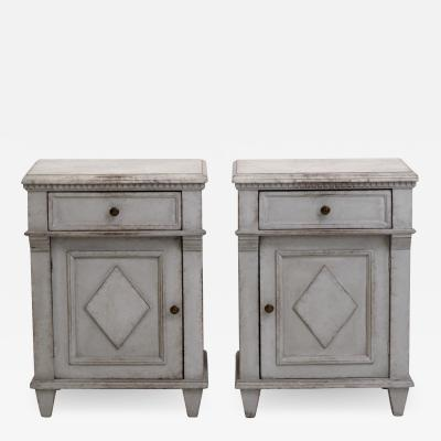 Pair of Gustavian style console cabinets