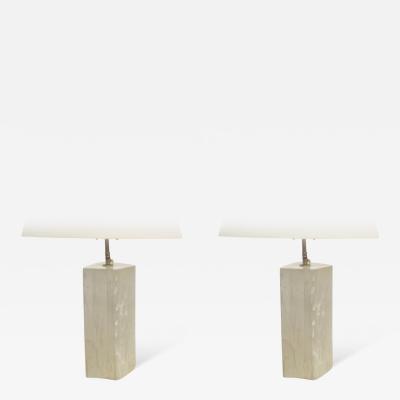 Pair of Gypsum Lamps