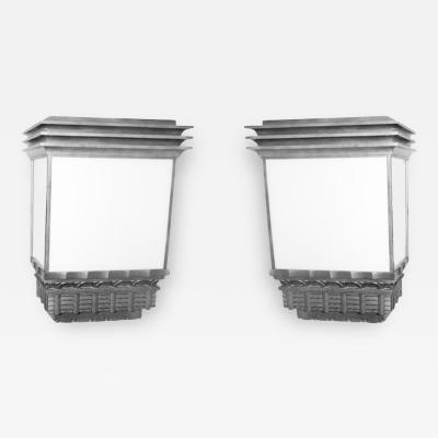 Pair of Historic 1933 Monumental Wall Sconces Suitable for Outdoors