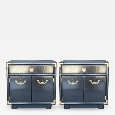 Pair of Hollywood Regency 1940s 1950s Nightstands