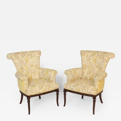 Pair of Hollywood Regency Bergeres
