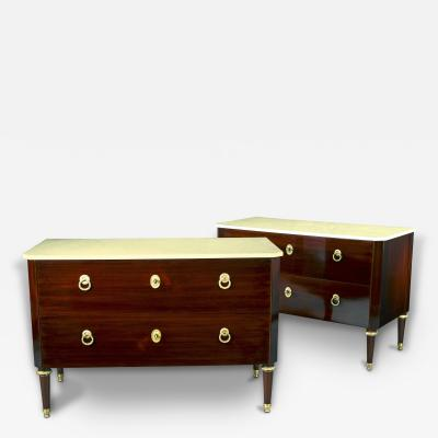 Pair of Important Commodes Austria Neoclassical ca 1785