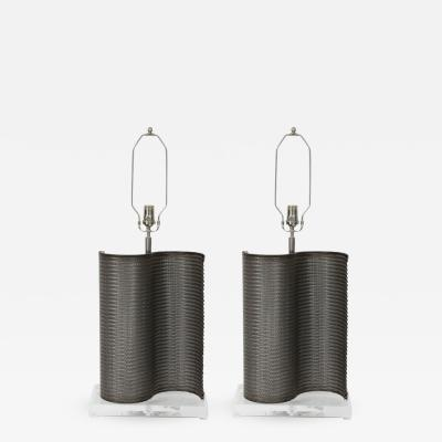 Pair of Industrial Lamps