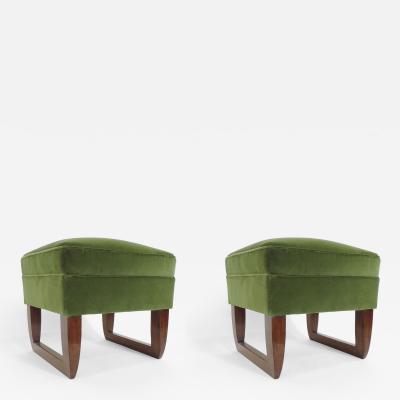 Pair of Italian 1930s modernist stools