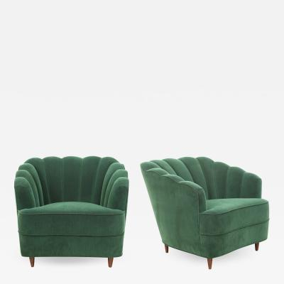 Pair of Italian 1950s Lounge Chairs