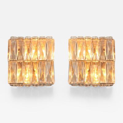 Pair of Italian 1950s jewel wall lights