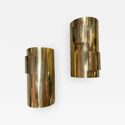 Pair of Italian 1960s Brass Sconces
