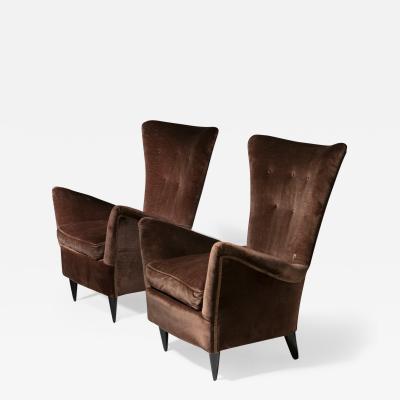 Pair of Italian 50s Lounge Chairs