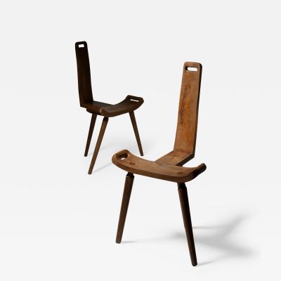 Pair of Italian 50s Rustic Chairs