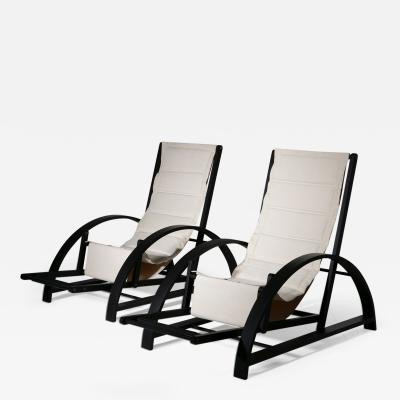 Pair of Italian 80s Deck Chairs
