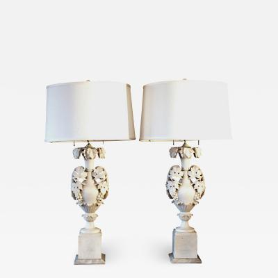 Pair of Italian Alabaster Lamps