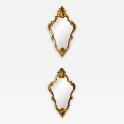 Pair of Italian Antique Giltwood Mirrors