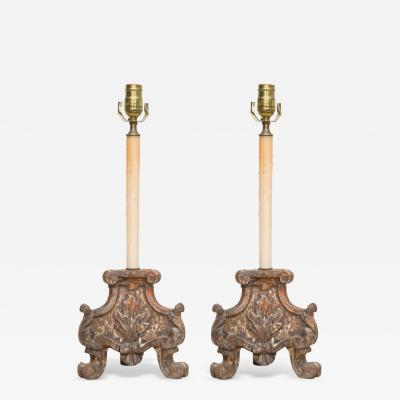 Pair of Italian Architectural Elements as Lamps