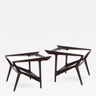 Pair of Italian Architectural Side Tables