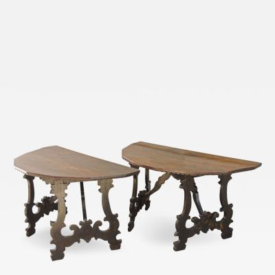 Pair of Italian Baroque Console Tables