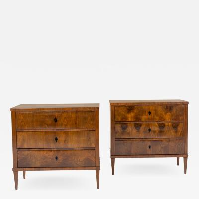 Pair of Italian Bedside Commodes