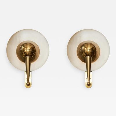 Pair of Italian Brass Wall Sconces