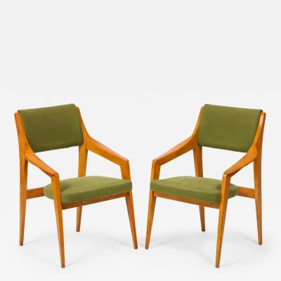 Pair of Italian Cantilevered Armchairs