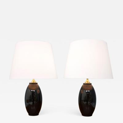 Pair of Italian Glass Table Lamps 1970s