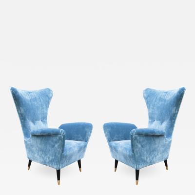 Pair of Italian Mid Century Club Chairs