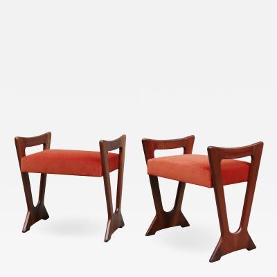 Pair of Italian Mid Century Modern Stools