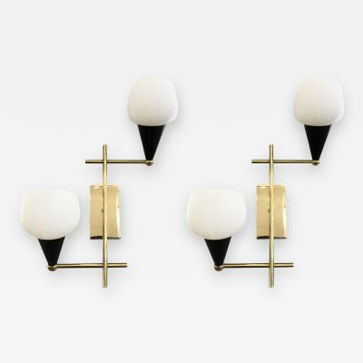Pair of Italian Mid Century Wall Lights
