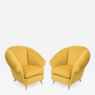 Pair of Italian Modern Lounge Chairs Gio Ponti for ISA Model 12690 1950s