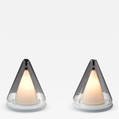 Pair of Italian Modern Table Lamps Italy 1980s