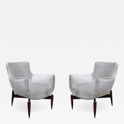 Pair of Italian Modernist Armchairs