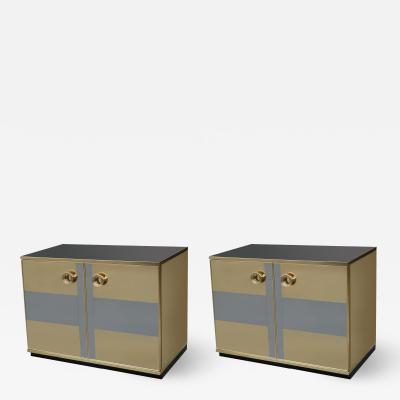 Pair of Italian Modernist Cabinets