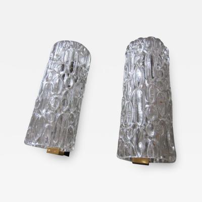 Pair of Italian Murano Glass Sconces