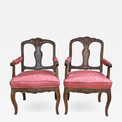 Pair of Italian Poltrone Piedmontese Armchairs