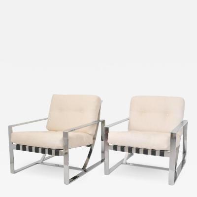 Pair of Italian Postmodern Club Chairs