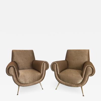 Pair of Italian Vintage Arm Chairs