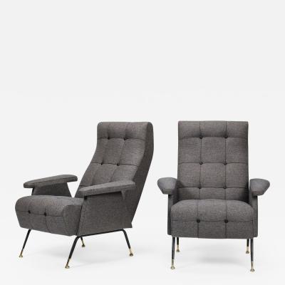 Pair of Italian armchairs 50s