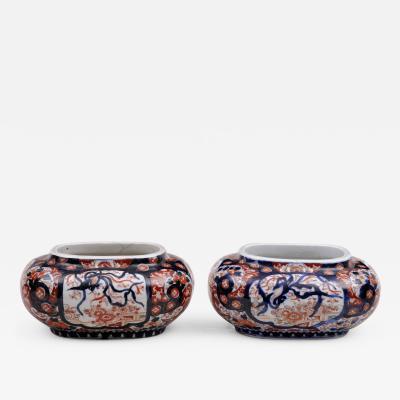 Pair of Japanese Imari Jardinieres Circa 1880