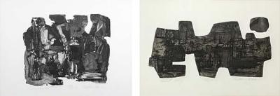 Pair of Korean Lithographs by John Lee