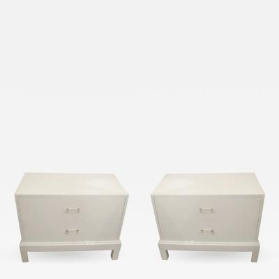 Pair of Lacquered Nightstands