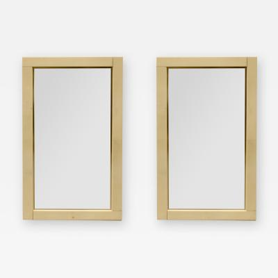 Pair of Lacquered Parchment Mirrors