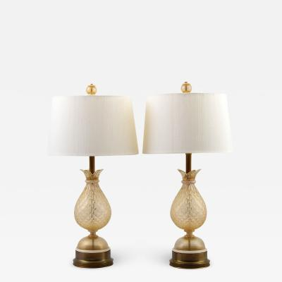 Pair of Lamps Attributed to Barovier Toso
