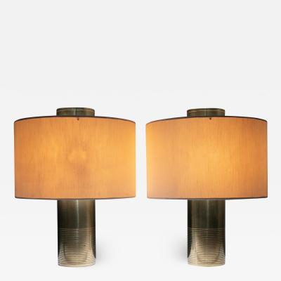 Pair of Large Brass Table Lamps