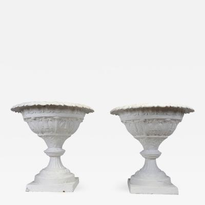 Pair of Large Cast Iron Planters