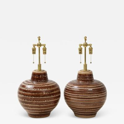 Pair of Large Ceramic Lamps