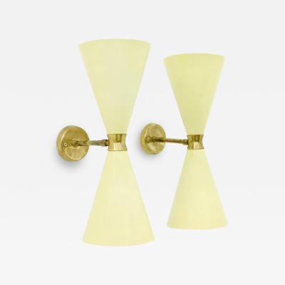 Pair of Large Diabolo Wall Sconce 1950s