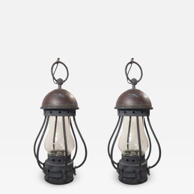 Pair of Large Dietz Lanterns